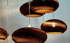 3 Ideias de Luminárias Feitas de Papelão   Reciclagem no Meio Ambiente – O seu portal de artesanato com material reciclado