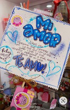Soy Luna Logo, Diy Birthday, Birthday Cards, Diy Gifts For Boyfriend, Barbie Accessories, Boyfriend Birthday, Paint Markers, Diy Arts And Crafts, Presents
