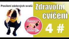 Cvičení na záda | Zdravotní cvičení #4 | DancaVideo.com Video 4, Victoria, Youtube, Movies, Movie Posters, Films, Film Poster, Cinema, Movie