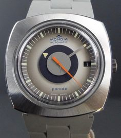 25 Jewels 1970s Brilliant Vintage Mondia Parade Mystery Dial Swiss Automatic