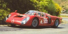 1968. Targa Florio of course. The #186 Autodelta Alfa Romeo T33/2 shared by Nanni Galli and Ignazio Giunti, driven to second overall.
