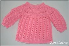 This domain was registered by Youdot. Cardigan Bebe, Bebe Baby, Crochet Baby Clothes, Baby Vest, Baby Sweaters, Baby Knitting Patterns, Cute Tops, Couture, Free Pattern