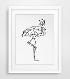 Flamingo Art Geometric Flamingo Printable by MelindaWoodDesigns #flamingoprints