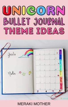 The best unicorn themed bullet journal spread to try out! #bujo #unicorn Bullet Journal For Beginners, Bullet Journal Themes, Bullet Journal Spread, Bullet Journal Layout, Bullet Journal Inspiration, Unicorn Headband, Meraki, Self Development, Happy Planner