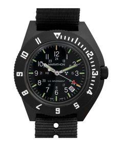 Marathon Swiss Made Quartz Military Navigator Pilot Watch with Tritium… Military Grade Watches, Army Watches, Rolex Watches, Watches For Men, Wrist Watches, Marathon Watch, Marathon Man, Usmc, Casio Watch