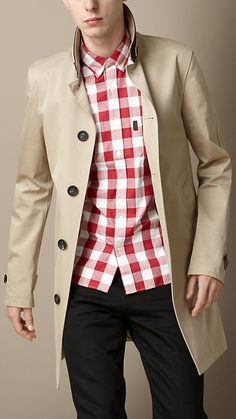 Seam Sealed Technical Cotton Car Coat | Burberry