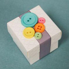 "Favor idea for ""Cute as a Button"" themed shower."