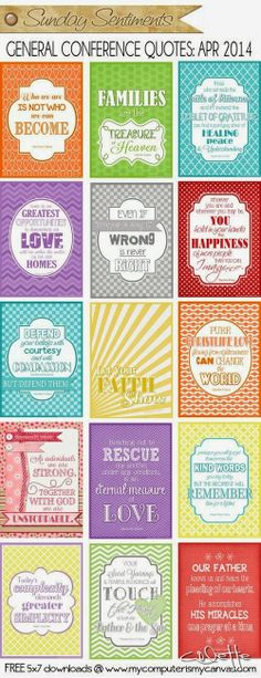 Stand & Shine Magazine: April 2014 General Conference Quotes & Printables
