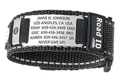 The Wrist ID Sport is a comfortable bracelet ID that includes two 3M reflective strips and a Velcro closure. Laser engraved peace of mind in a stylish and durable form. Easy to wash and interchangeable with the Shoe ID, the Wrist ID Sport is a must for any athlete. Get yours!