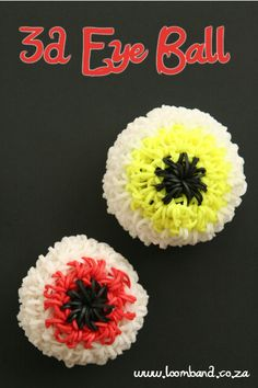 3D Eye Ball loom band tutorial http://loomband.co.za/3d-eye-ball-loom-band-tutorial/
