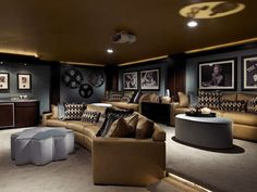 Media Room Decor turn the upstairs bonus room into your own private media room
