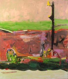 """Dog, 2005, Oil on canvas, 84"""" x 72""""  AMY SILLMAN"""