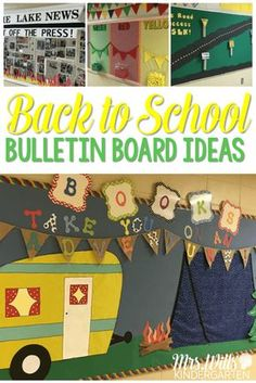 Back to school bulletin board ideas are here! Camp…