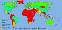 Countries based on CS GO in progress leave comments to help #games #globaloffensive #CSGO #counterstrike #hltv #CS #steam #Valve #djswat #CS16