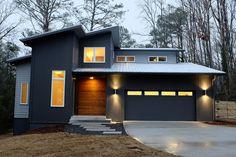 Cedar Siding, Metal Siding & Corrugated Metal - Modern Exterior By J.w. York Homes