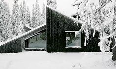 Vardehaugen's snowbound Cabin Vindheim doubles as a ski ramp in winter | Inhabitat - Green Design, Innovation, Architecture, Green Building