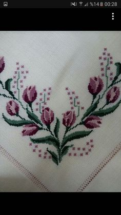 Cross Stitch Art, Baby Knitting Patterns, Tulips, Embroidery, Crochet, Crafts, Cross Stitch Embroidery, Treadmills, Craft