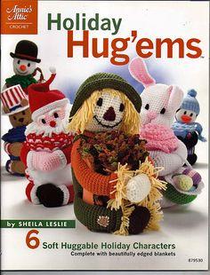 Holiday Hug'ems Crochet Pattern Book  / Annies Attic 879530 by grammysyarngarden on Etsy
