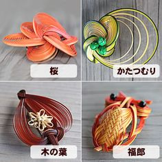 Bamboo brooch (cherry tree, snail, leaves, owl)