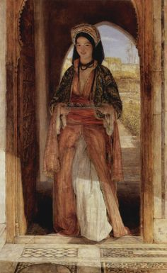 The Coffee Bearer Painting by Lewis, John Frederic.