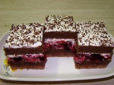 Višňová kocka Czech Recipes, Russian Recipes, Sweet Recipes, Cake Recipes, Dessert Recipes, Kolaci I Torte, Croatian Recipes, Tasty, Yummy Food