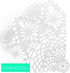 46 ideas for crochet doilies scheme Free Crochet Doily Patterns, Crochet Diagram, Filet Crochet, Crochet Motif, Knit Crochet, Crochet Dollies, Crochet Stars, Crochet Circles, Crochet Pillow