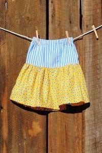 Skirt -Yellow Dot