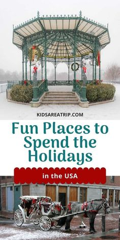 If you are considering traveling for the holidays, but don't know where to go for Christmas, we have some ideas. Everything from small towns to big cities make for the perfect places to celebrate Christmas in the US. - Kids Are A Trip |Christmas travel| Christmas trip| where to go for Christmas US| Christmas travel ideas Usa Travel Guide, Travel Usa, Travel Tips, Best Winter Destinations, Travel Destinations, Places In Europe, Places To Travel, Winter Travel Packing, Cool Places To Visit