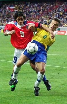 Dunga vs Zamorano Soccer World, Football Players, Real Madrid, Pitch, Fifa, World Cup, Respect, Superstar, Club