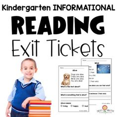 You will receive 6 informational/nonfiction reading passages. Each passage includes a real-life picture. The informational reading passages are 2 to a page for easy printing and copying. Each informational reading passage also includes an answer key. There are 6 digital exit tickets and 6 print exit...