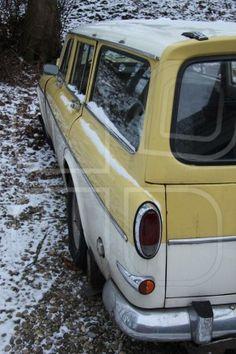 Detail of a vintage Swedish car