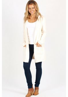 Perfect for the stylish girl, this super soft hooded cardi is a must have for the winter wardrobe! Perfect with skinny jeans and a tank for the any day of the w Stylish Girl, Winter Wardrobe, Online Boutiques, Must Haves, Hoods, Skinny Jeans, Chic, Pretty, Sweaters