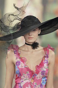 Stunning ~ love the floating mesh ribbon ~ Ralph Lauren S/S 2008