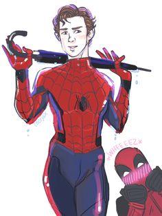 Spider-Man & Deadpool. Spideypool. <3
