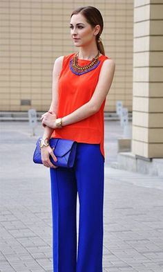 10 chic color combinations to look stylish all the time. Office Fashion Women, Curvy Women Fashion, Womens Fashion For Work, Urban Fashion, Estilo Casual Chic, Casual Chic Style, Fashion Over, Look Fashion, Fashion Outfits