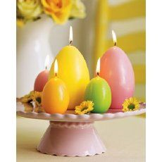 Easter egg candles... love!!