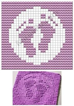 Picture only, but am thinking could make a square afghan from this grid pattern. by Vorlagen Knitted Washcloth Patterns, Knitted Washcloths, Dishcloth Knitting Patterns, Crochet Dishcloths, Knitting Charts, Knitting Stitches, Crochet Patterns, Crochet Chart, Knit Or Crochet