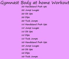 Gymnast body at home workout; looks more like some sort of crazy...just saying:P