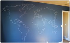 Easy World Map Mural for a Travel Nursery