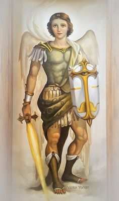 Angel Hierarchy, Bible Timeline, Angel Guide, Kunst Online, Angel Cards, Archangel Michael, St Michael, Bible Art, Cute Funny Animals