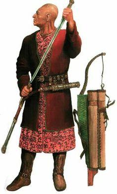 Scythian warrior, 5th. Century, BCE.