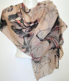Beige summer scarf $20