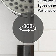 AquaSource Chrome 5-Spray Handheld Shower 2.5-GPM (9.5-LPM) in the Shower Heads department at Lowes.com Shower Arm, Hand Held Shower, Rain Shower, Polished Chrome, Slide Bar, Water Flow, Lowes Home Improvements, Jaba, Patterns