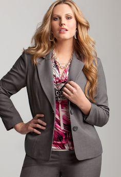 $50 Avenue Plus Size Two Button Blazer | Plus Size Avenue Clearance | Avenue