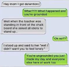 funniest text between parents and child - Google zoeken