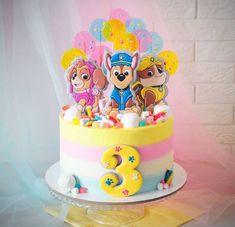 Cupcakes birthday cake girl peppa pig 47 ideas for 2020 Bolo Do Paw Patrol, Paw Patrol Torte, Skye Paw Patrol Cake, Girls Paw Patrol Cake, Paw Patrol Cupcakes, Cupcake Birthday Cake, Baby Birthday Cakes, Card Birthday, Birthday Greetings