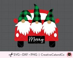 Christmas Truck with Gnomes SVG DXF Cute Buffalo Plaid Gnomes Christmas Road Trip svg dxf Cut Files for Cricut Clipart Christmas Truck, Christmas Gnome, Xmas, Christmas Doormat, Funny Christmas, Christmas Paper Crafts, Holiday Crafts, Cricut Christmas Cards, Christmas Clipart