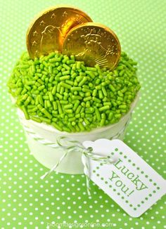 St Patrick's Day cupcake - I really like the jimmies (sprinkles)