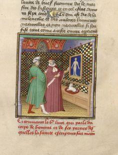 On anatomy, De proprietatibus rerum (BNF Fr. 9141, fol. 55), first quarter of the 15th century