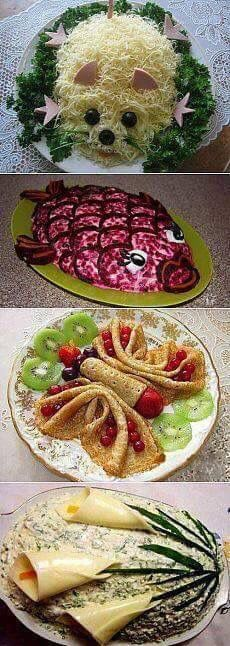 Discover thousands of images about Afla si tu cum poti realiza cele mai frumoase aperitive cu aceste 106 idei Cute Food, Good Food, Yummy Food, Awesome Food, Food Sculpture, Food Carving, Food Garnishes, Snacks Für Party, Party Recipes